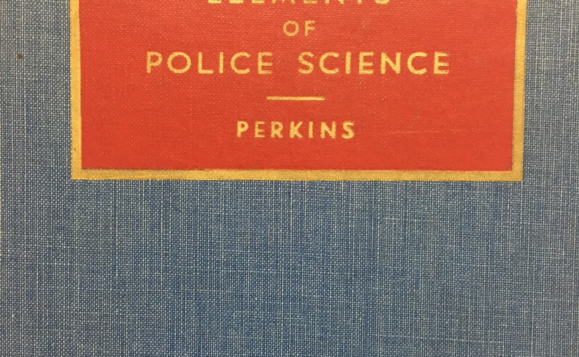 Elements of Police Science